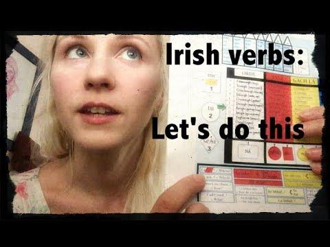 Irish verbs lesson - introduction to verbs