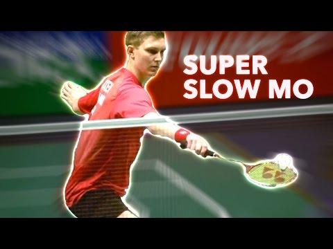 Viktor AXELSEN Badminton Technique in Super Slow Motion Camera
