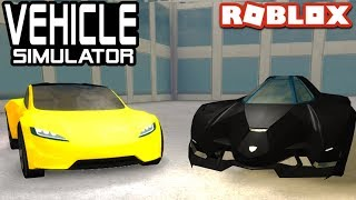 Tesla Roadster 2 0 Vs Lambo Egoista In Vehicle Simulator Roblox