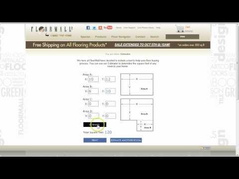 Square Footage Estimator Flooring Tutorial on FloorMall.com