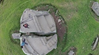 Quadcopter View Of Ancient Cataclysmic Damage In Peru
