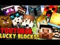 YouTuber Blocks in Minecraft - Minecrafter Mod (PopularMMOS, DanTDM, StampyLongHead)