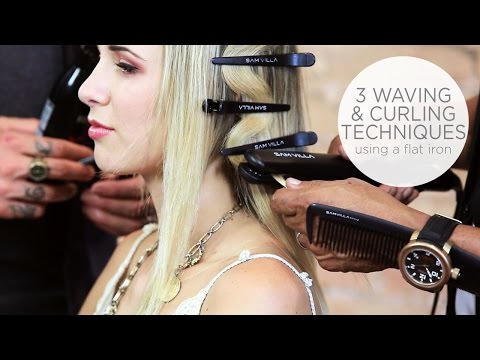 Flat Iron Tricks: How To Create a Flat Wave | How To Create Loose Waves