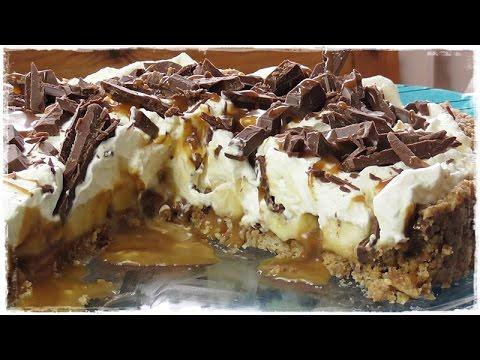 How to make a BANOFFEE PIE | Banana Toffee Cake