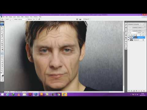 Photoshop tutorials : How to make young to old face