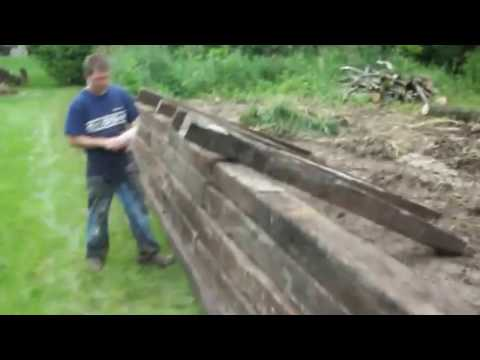 Railroad tie retaining wall 7_2_14
