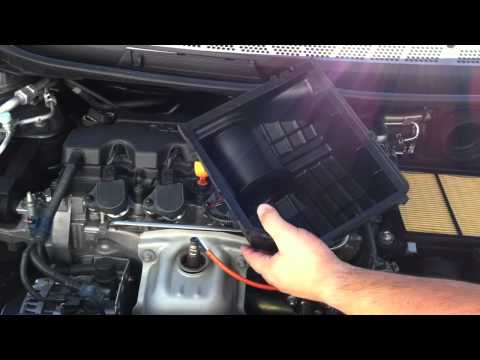 How To Change Honda Civic Engine Air Filter 8th Gen 2006--2011