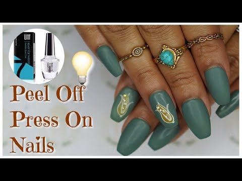 Press On Nail Hack (For Temporary Wear)  | Peel Off Base Coat | 2017 | DivaDollFlawless