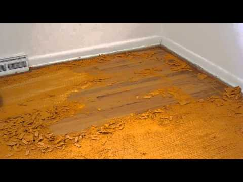 Scraping carpet padding