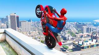 GTA 5 Spiderman Epic Jumps #7 ( Spider-Man Stunts & Fails )