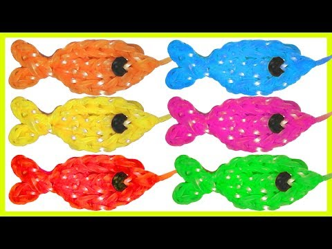 Gold fish charm with two forks without Rainbow Loom Tutorial. (Mini Figurine)