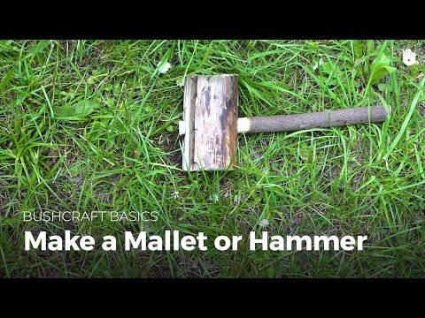 Make a Mallet or Hammer | Bushcraft