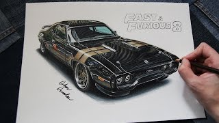Plymouth GTX Road Runner | Fast And Furious 8 🔥 Dom's Car Drawing
