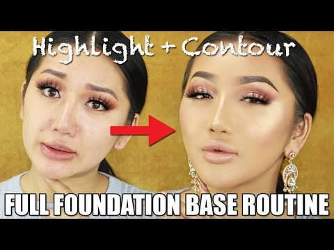 FLAWLESS FULL COVERAGE FOUNDATION ROUTINE FOR OILY SKIN || BAKING, HIGHLIGHT, CONTOUR