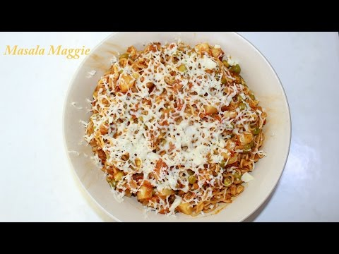 Maggi Masala Noodles Recipe with veggies and cheese #Welcome Back