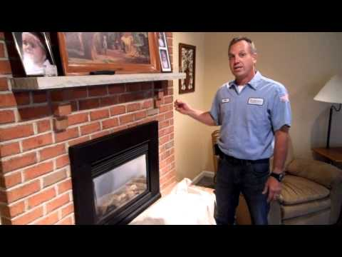 Robert Martin Gas Fireplace Cleaning Step 2