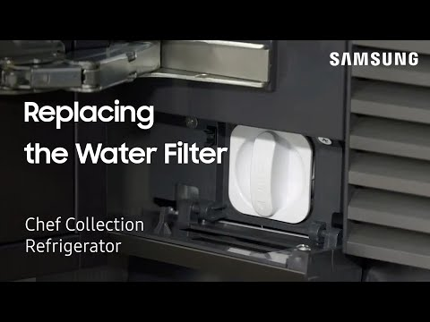 Replacing the Water Filter on Your Built-In Chef Collection Refrigerator