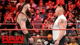 Braun Strowman attacks Universal Champion Brock Lesnar: Raw, Aug. 21, 2017
