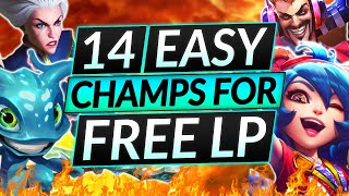 14 BEST LOW ELO Champions to CLIMB INSTANTLY - Get Your Desired Rank NOW - LoL Guide