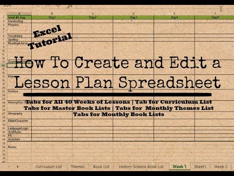 How To Create and Edit Your Own Homeschool Lesson Planner Spreadsheet | Excel Tutorial
