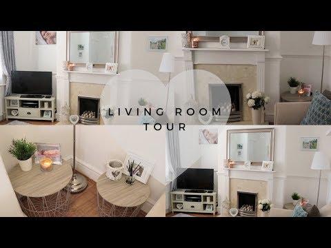 LIVING ROOM TOUR | HOUSE RENOVATIONS | HOME DECOR/INTERIOR IDEAS MAKEOVER HOUSE TOUR WHITE GREY HOME