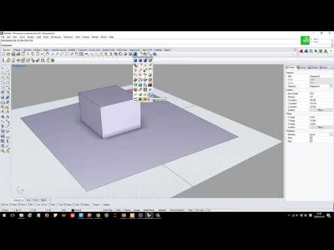 Rhino tutorial basic 4: Render/shades/material and views