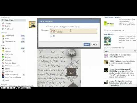 Facebook Ticker and Hover Effect