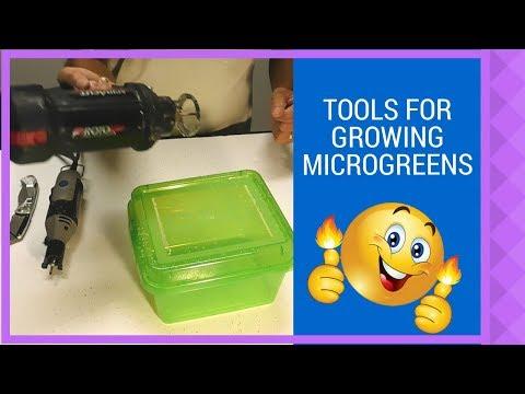 Make self watering microgreen grow box