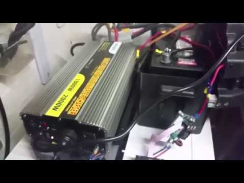 Setting up an inverter charger as an UPS for a freezer