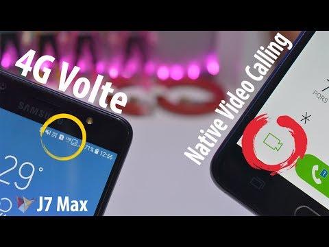 Samsung Galaxy J7 Max 4G Volte & Native Video Calling Test   Data Dock