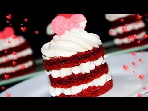 RED VELVET Mini Cakes For Valentine's Day ❤ Amazing Valentine's Day Dessert ❤ Tasty Cooking