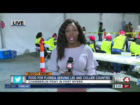 Food for Florida relief site opens in Fort Myers - 8am live update