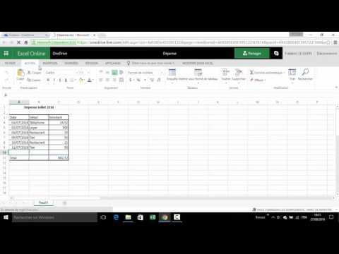 Travailler avec Excel gratuitement