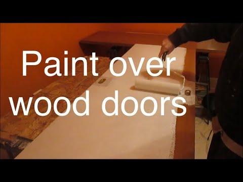 Painting old wood closet doors