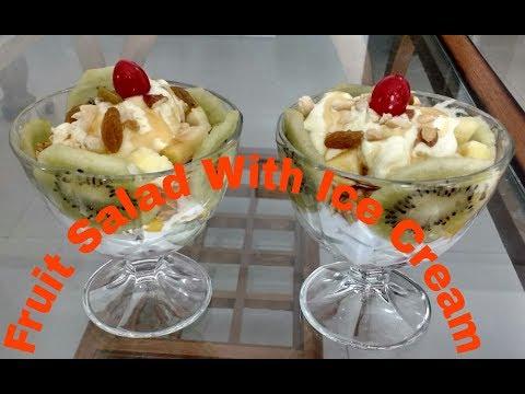 Fruiit Salad With Ice Cream/Ice Cream Fruit Salad/Fruit Salad/