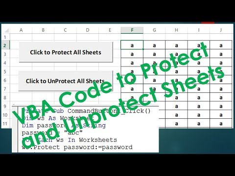 Protect and UnProtect Sheets using VBA - Excel VBA Example by Exceldestination