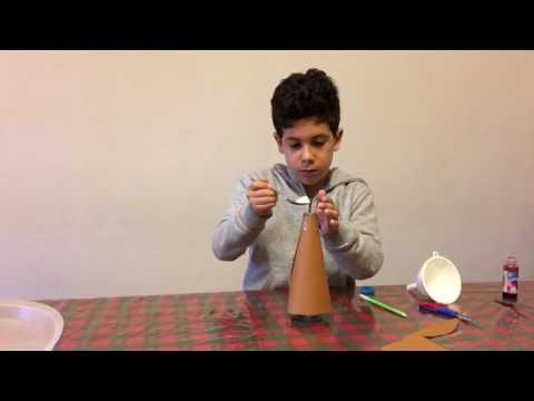 Vinegar volcano Trick