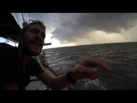 Sailing through Brisbane Cyclone - 85 knot winds