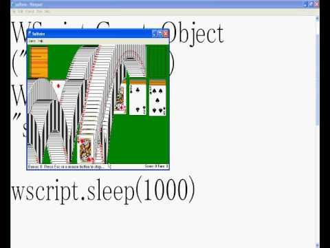 easy vbs/notepad solitare trick