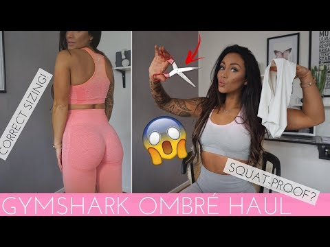 OMBRÉ SEAMLESS COLLECTION GUIDE - GYMSHARK HONEST REVIEW & TRY-ON