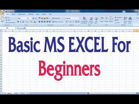 Basic MS EXCEL For Beginners | excel for beginners | excel basics