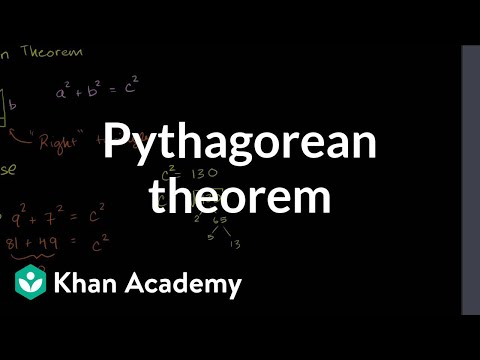 Pythagorean theorem | Right triangles and trigonometry | Geometry | Khan Academy
