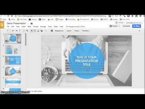 Google Slides: Layouts, Themes, Backgrounds
