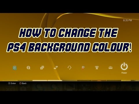 How to Change the PS4 Background Colour! (2.00 UPDATE)