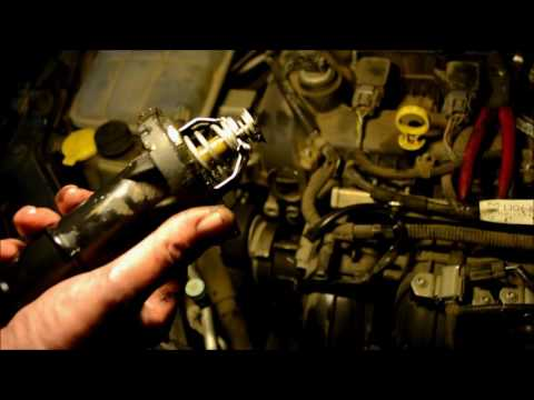 How to Replace / Change Thermostat  2004-2009 Mazda 3 (2.3L) P0126