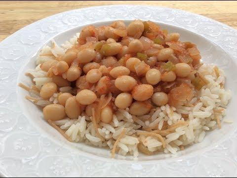 HOW TO COOK 'KURU FASULYE' - TURKISH WHITE BEAN STEW - In a Pan or Pressure Cooker
