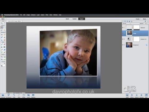 Creating A Reflection Style Image Photoshop Elements
