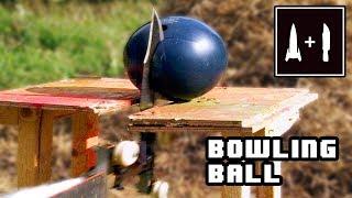 Rocket Knife -VS- Bowling Ball (Which one will break?)