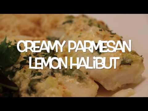 Creamy Parmesan Lemon Halibut Recipe