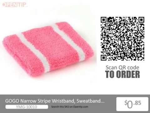 GOGO Narrow Stripe Wristband from Opentip.com